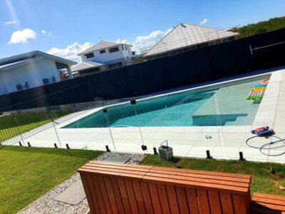 Glass Pool Fence12 - Black Hardware + Gate