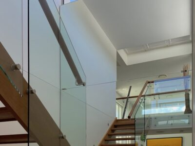 Four Mirror Install in Stairwell - Pelican Waters2
